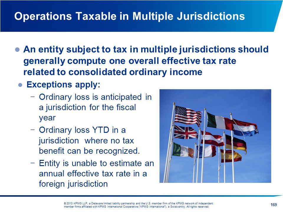 Operations Taxable in Multiple Jurisdictions