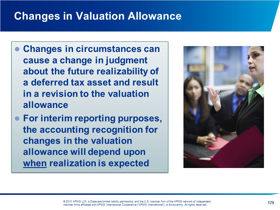 Changes in Valuation Allowance