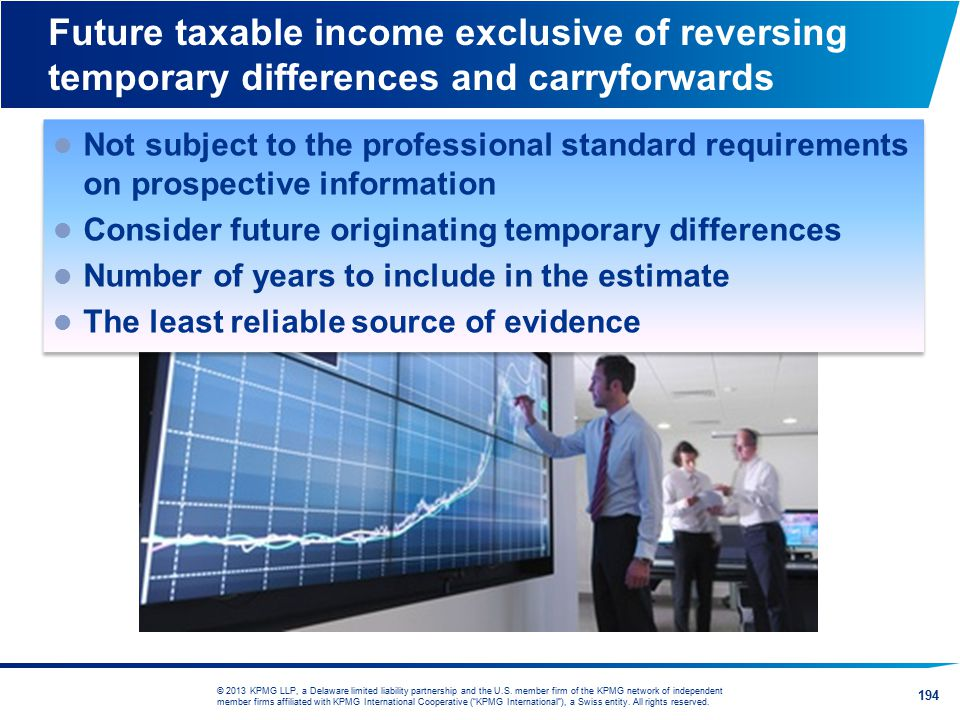 Future taxable income exclusive of reversing temporary differences and carryforwards