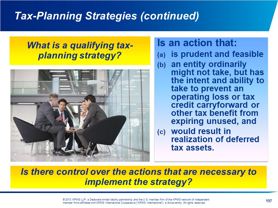 Tax-Planning Strategies (continued)