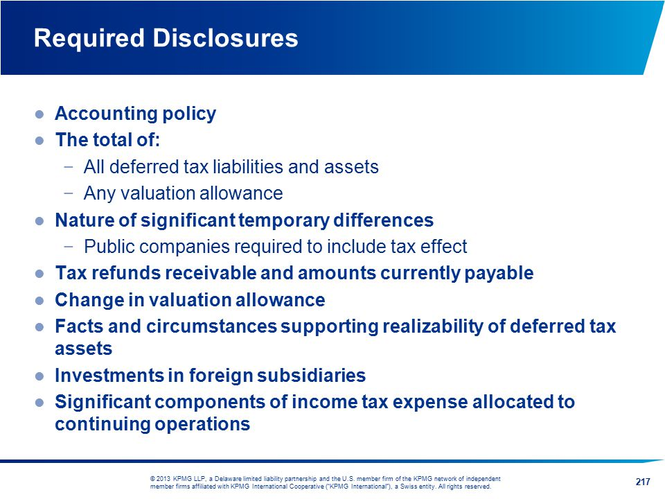 Required Disclosures Accounting policy The total of: