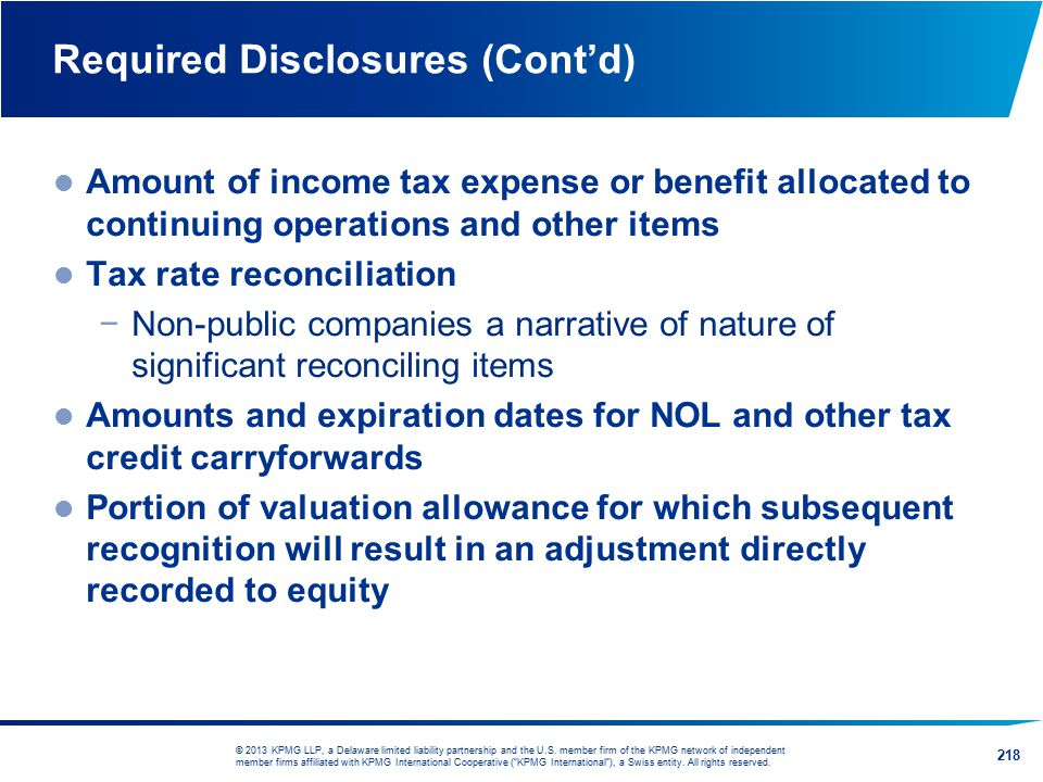 Required Disclosures (Cont'd)