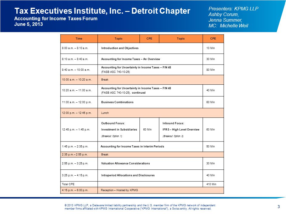 Tax Executives Institute, Inc