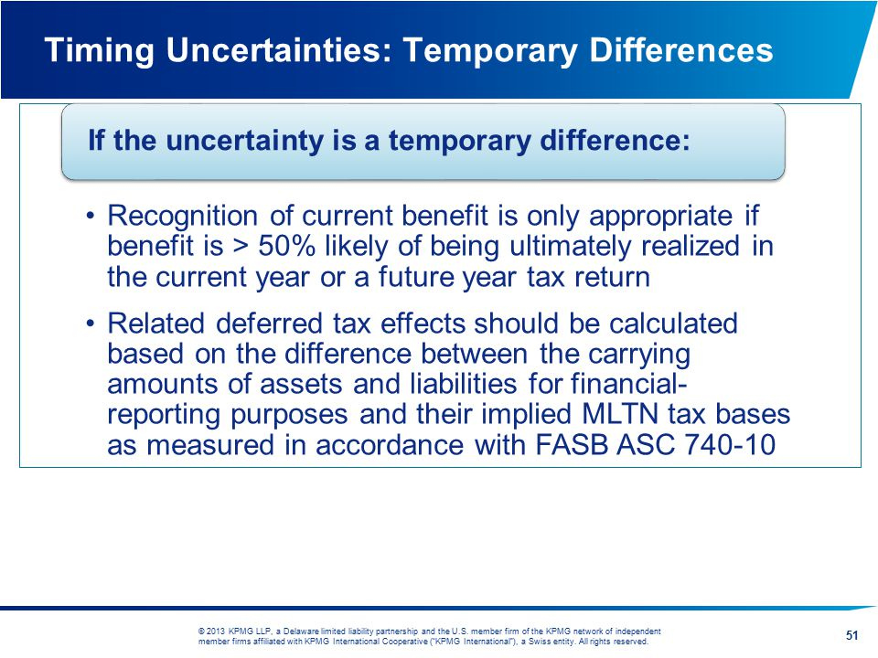 Timing Uncertainties: Temporary Differences