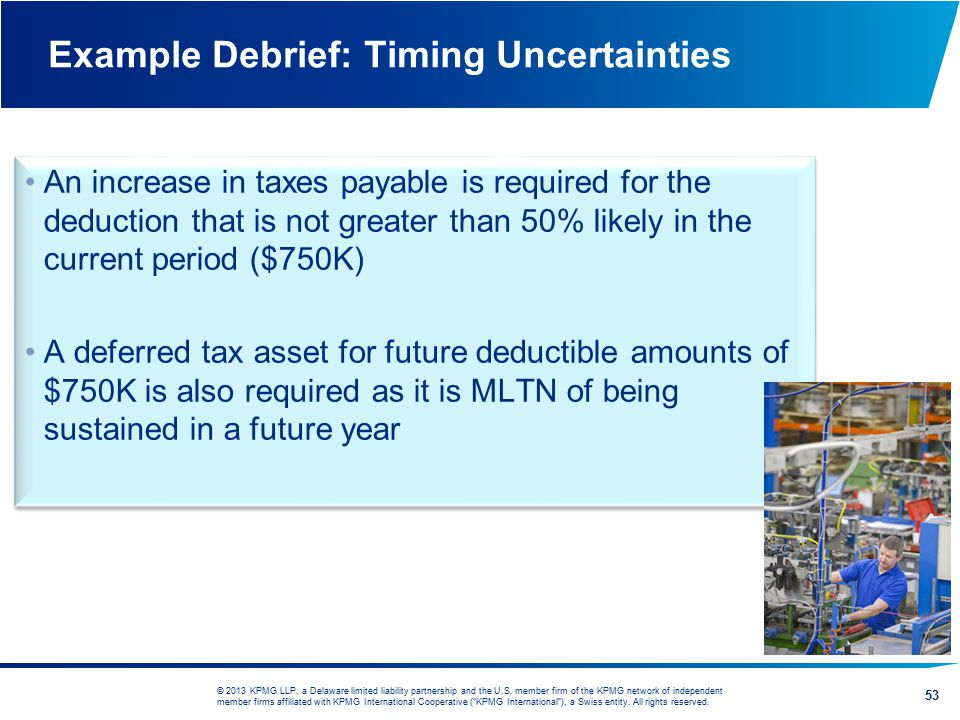 Example Debrief: Timing Uncertainties