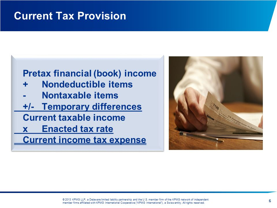 Current Tax Provision