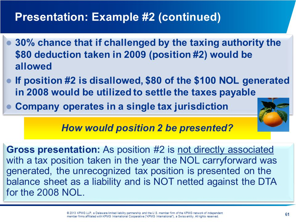 Presentation: Example #2 (continued)