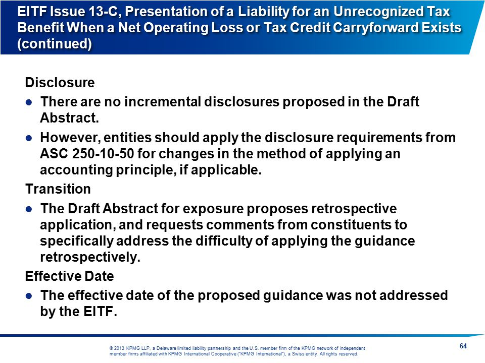 There are no incremental disclosures proposed in the Draft Abstract.