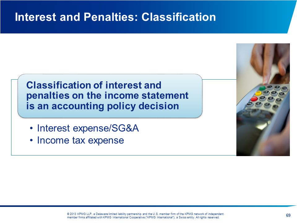 Interest and Penalties: Classification