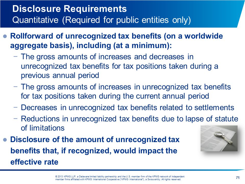 Disclosure Requirements Quantitative (Required for public entities only)