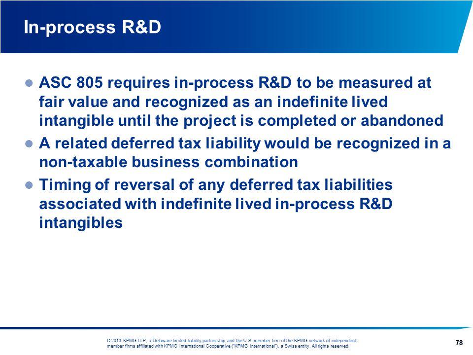 In-process R&D