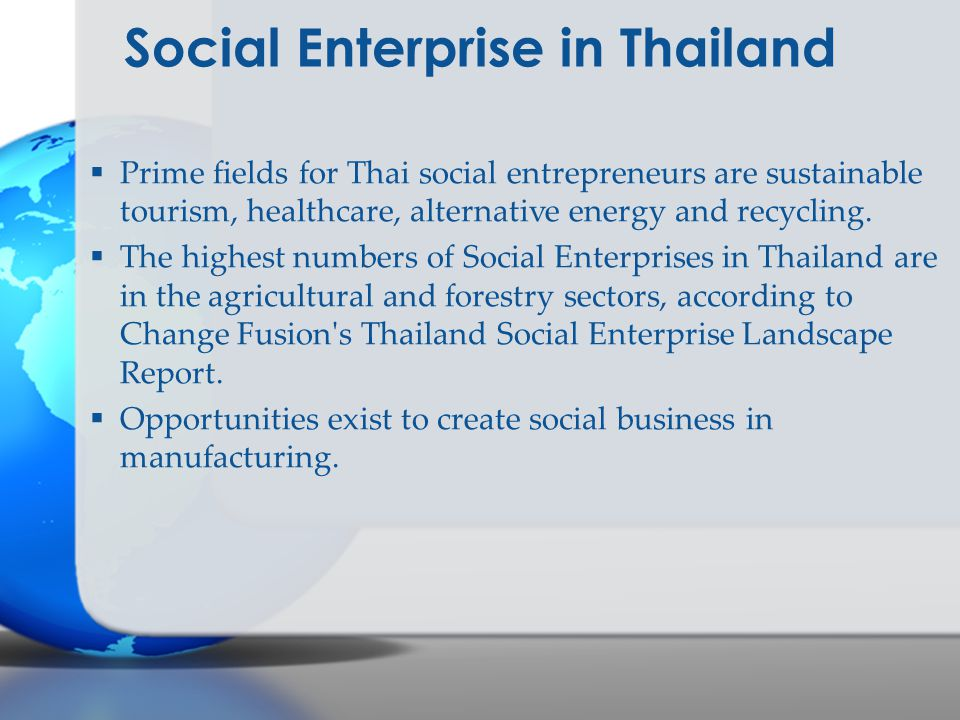 Social Enterprise in Thailand