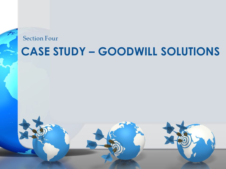 Case study – goodwill solutions