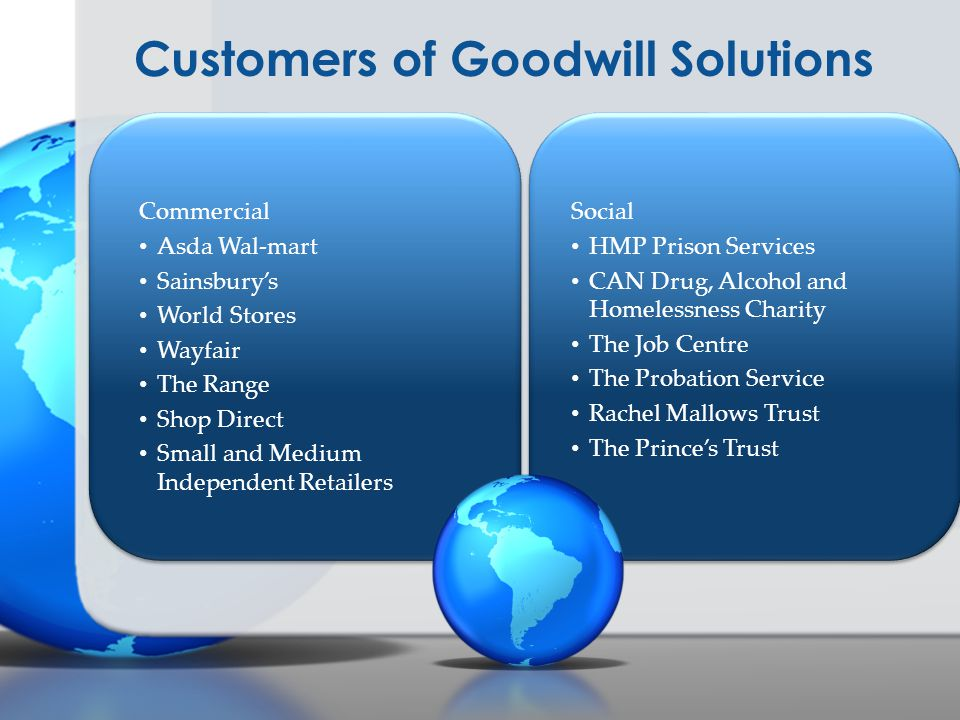 Customers of Goodwill Solutions