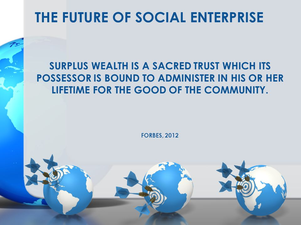 The Future of Social Enterprise