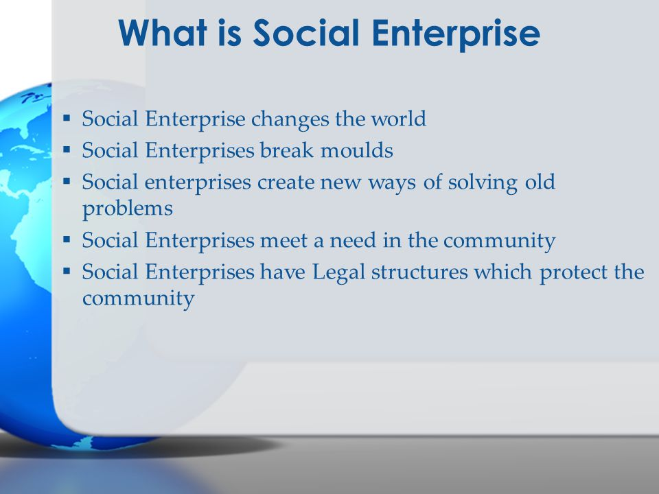 What is Social Enterprise