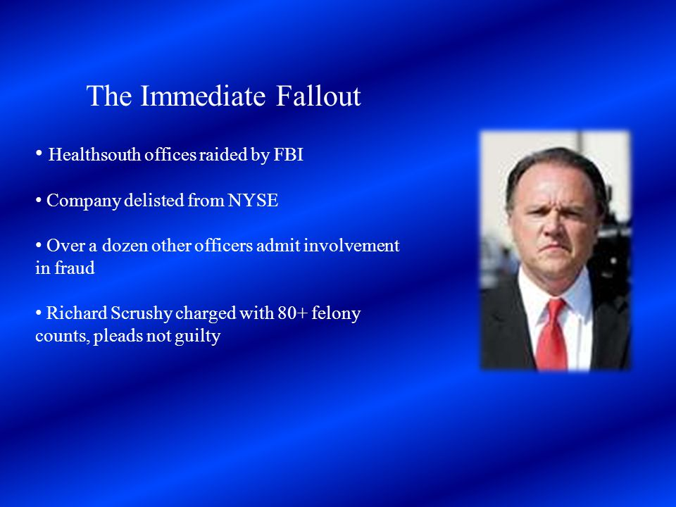 The Immediate Fallout Healthsouth offices raided by FBI