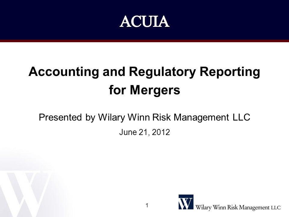 Accounting and Regulatory Reporting