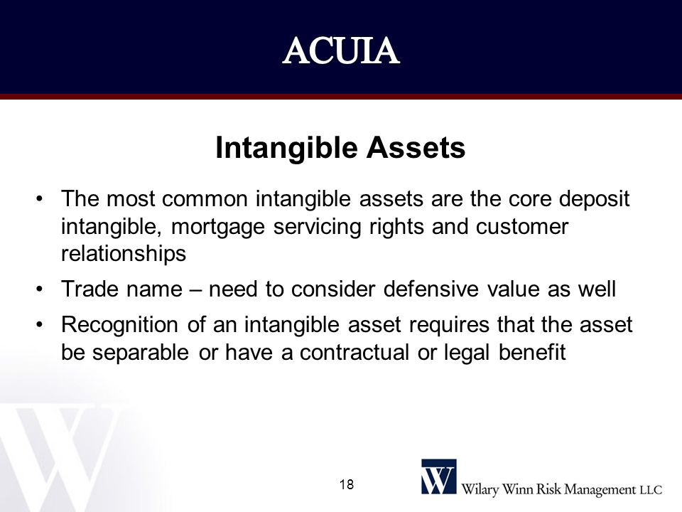 ACUIA Intangible Assets