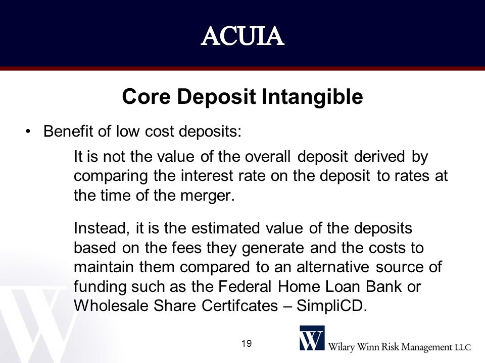 Core Deposit Intangible