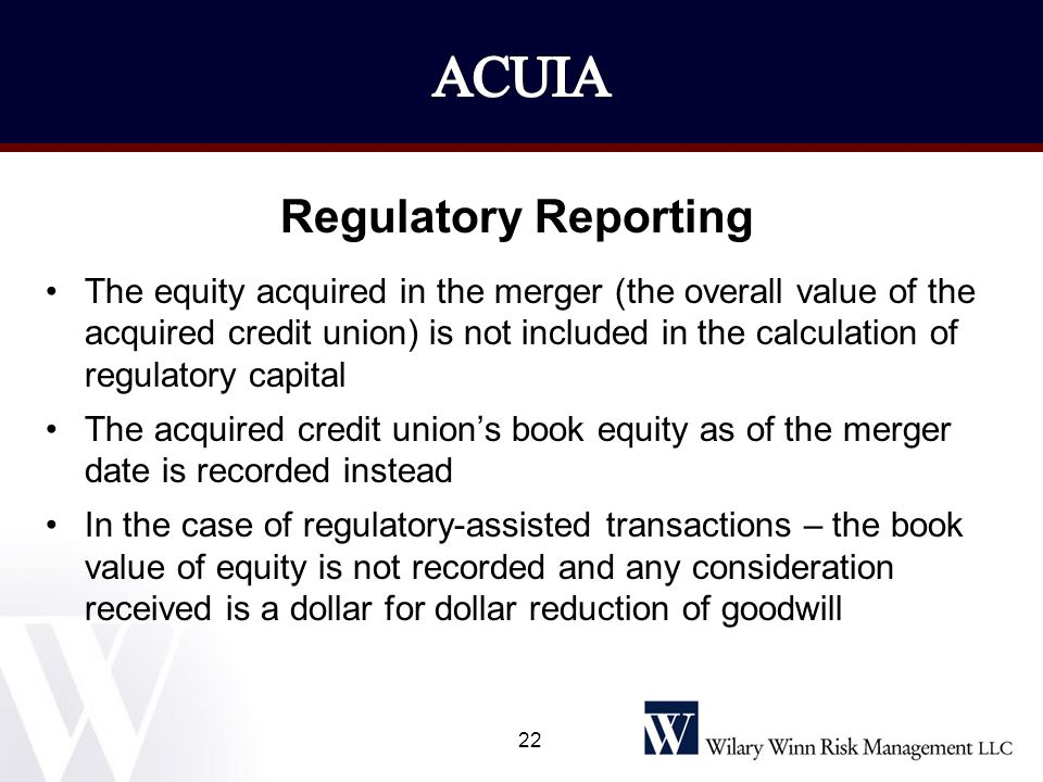 ACUIA Regulatory Reporting