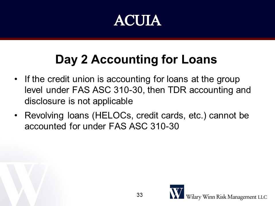 Day 2 Accounting for Loans