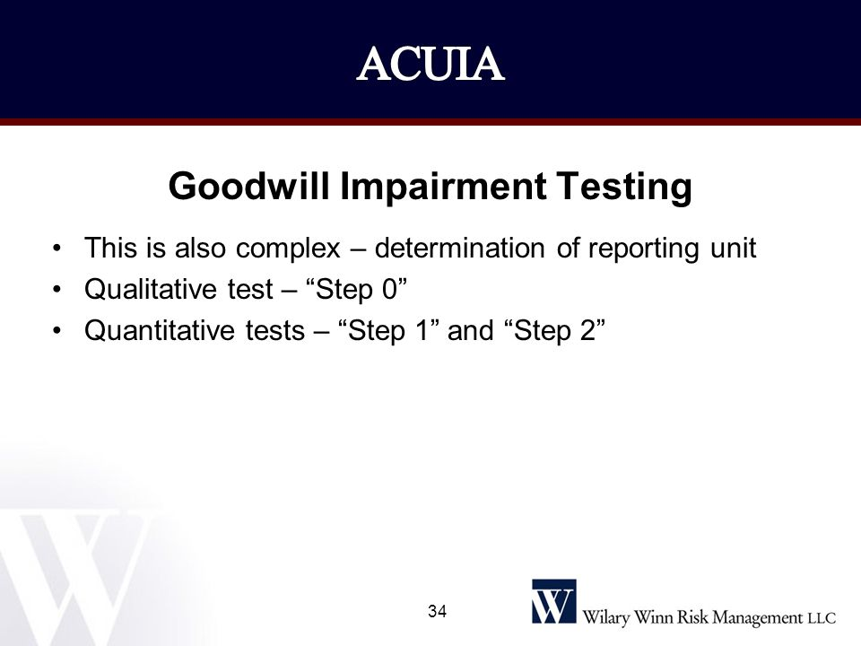 Goodwill Impairment Testing