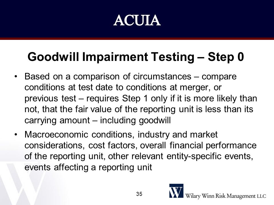 Goodwill Impairment Testing – Step 0