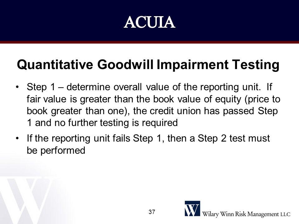 Quantitative Goodwill Impairment Testing