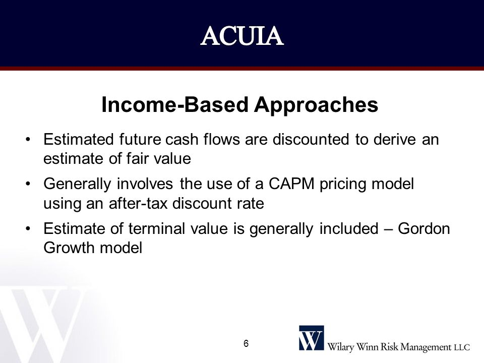 Income-Based Approaches