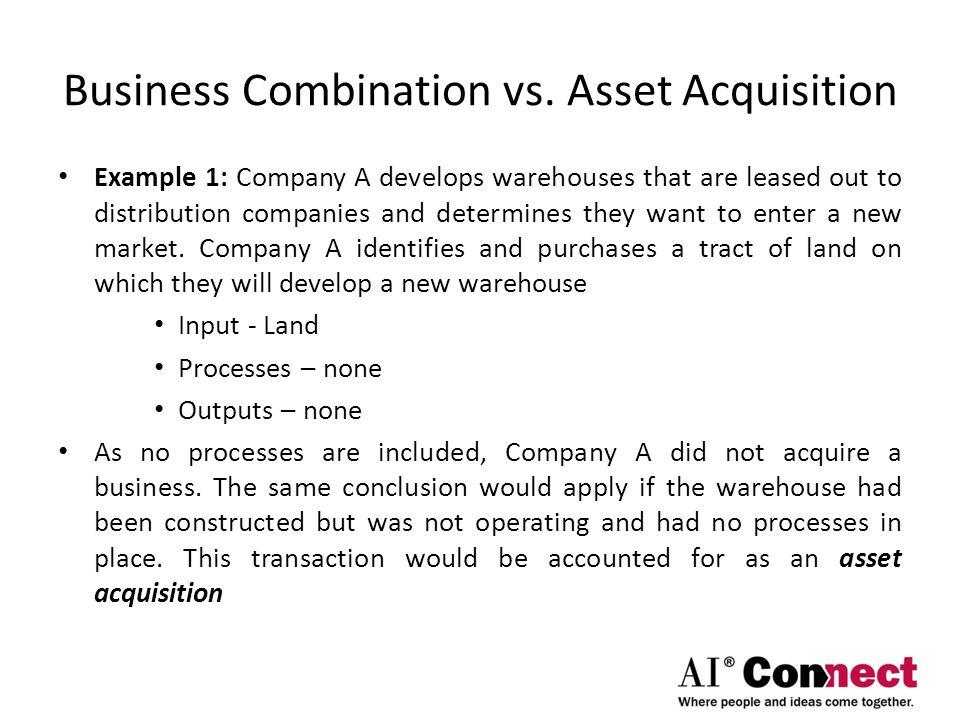 Business Combination vs. Asset Acquisition