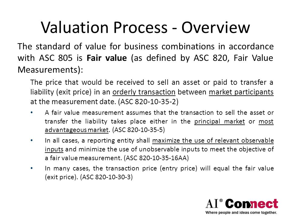 Valuation Process - Overview