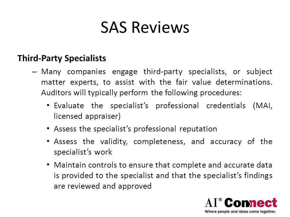 SAS Reviews Third-Party Specialists