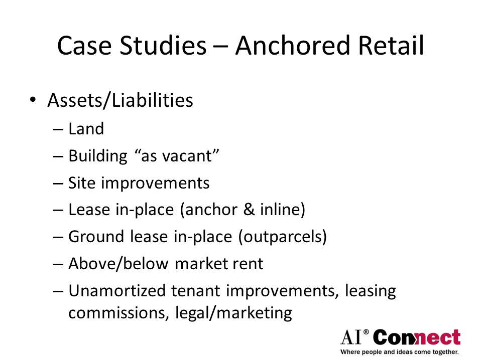 Case Studies – Anchored Retail