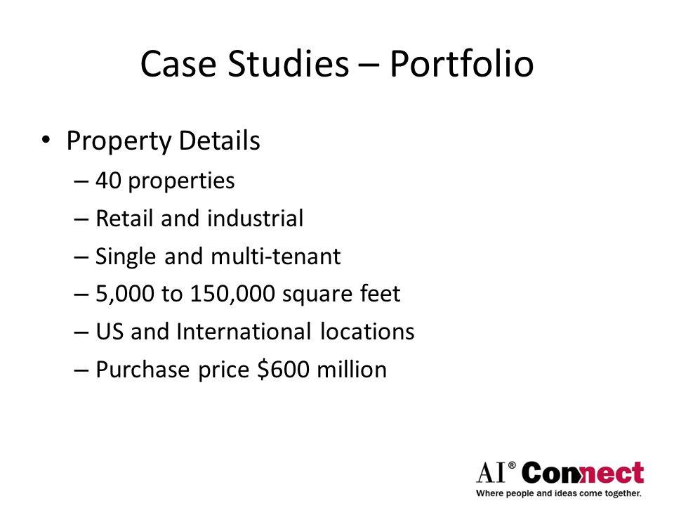 Case Studies – Portfolio