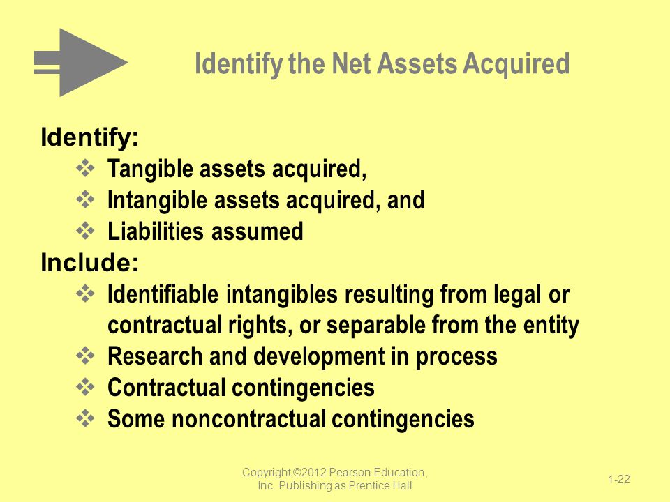 Identify the Net Assets Acquired