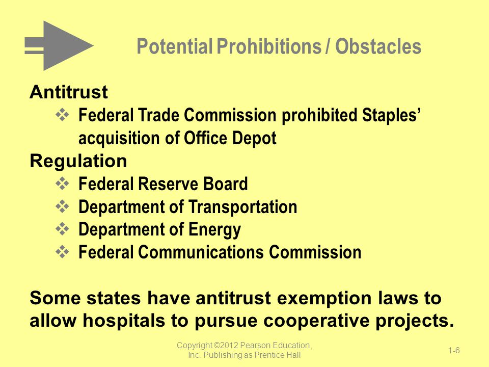 Potential Prohibitions / Obstacles