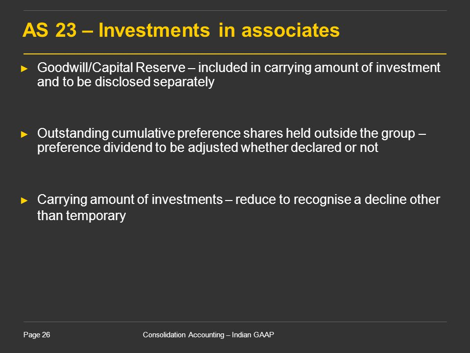 AS 23 – Investments in associates