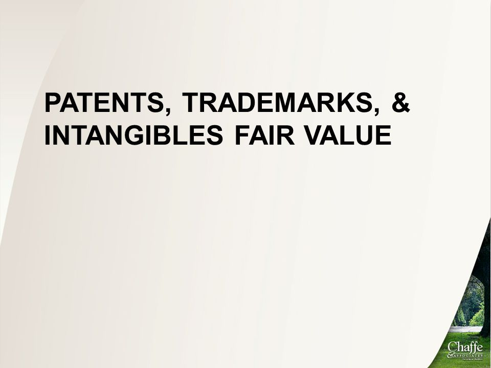Patents, Trademarks, & Intangibles Fair value