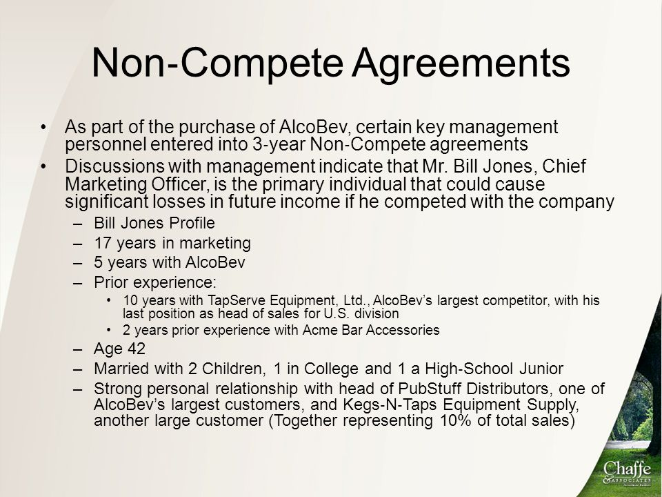 Non‐Compete Agreements