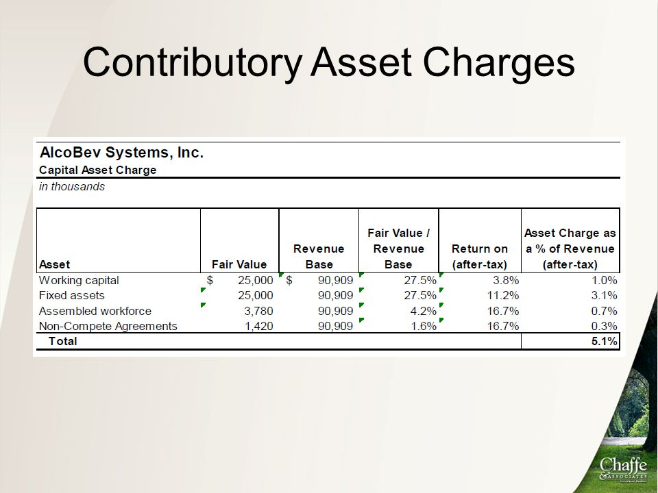 Contributory Asset Charges