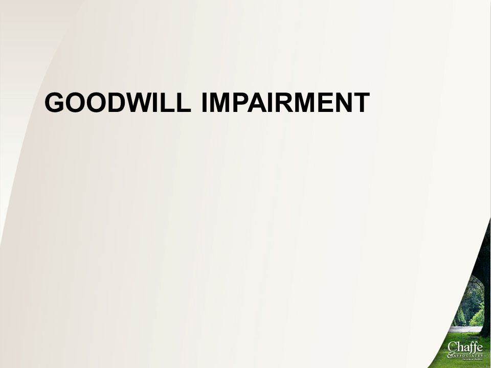 Goodwill impairment