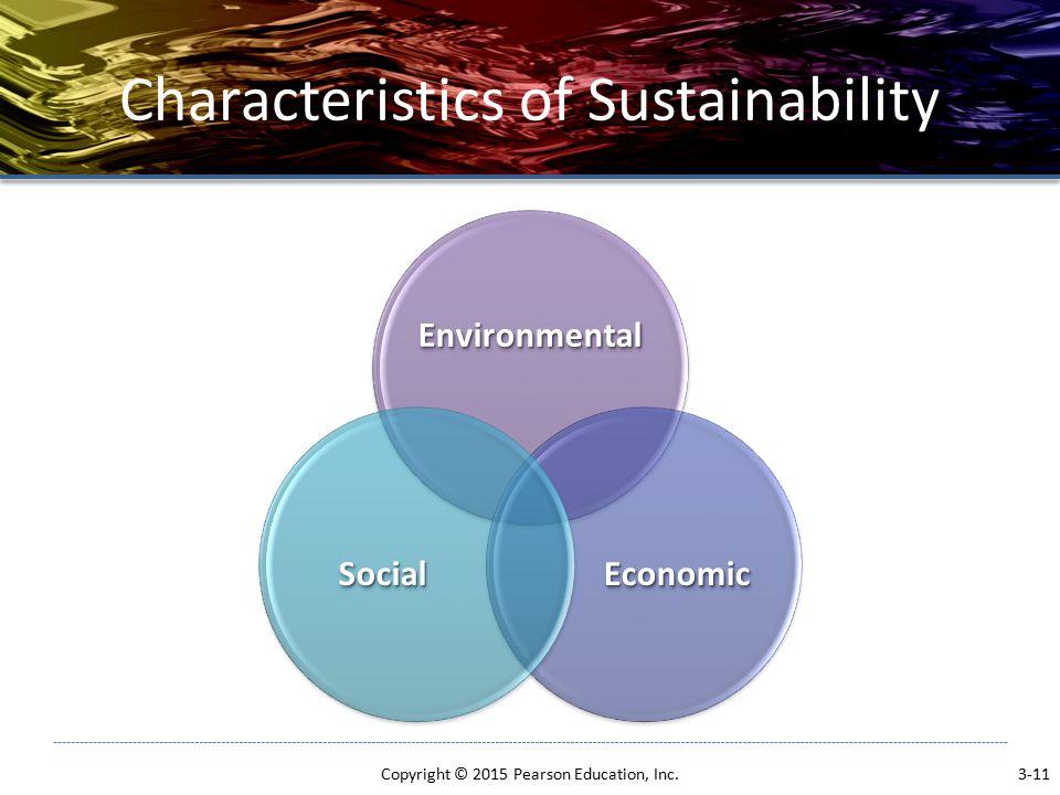Characteristics of Sustainability