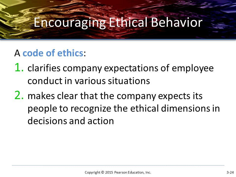 Encouraging Ethical Behavior