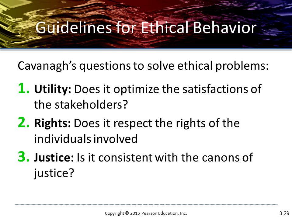 Guidelines for Ethical Behavior