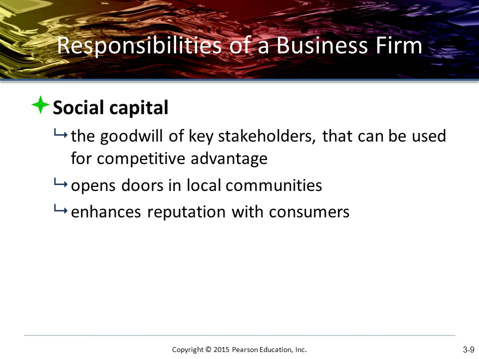 Responsibilities of a Business Firm