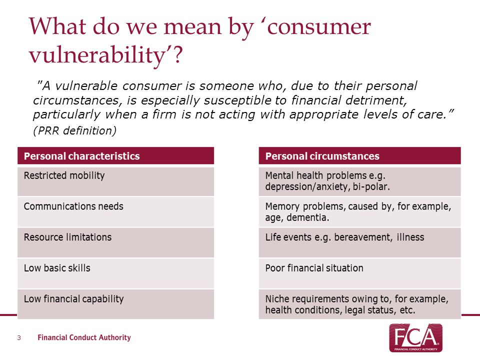 What do we mean by 'consumer vulnerability'