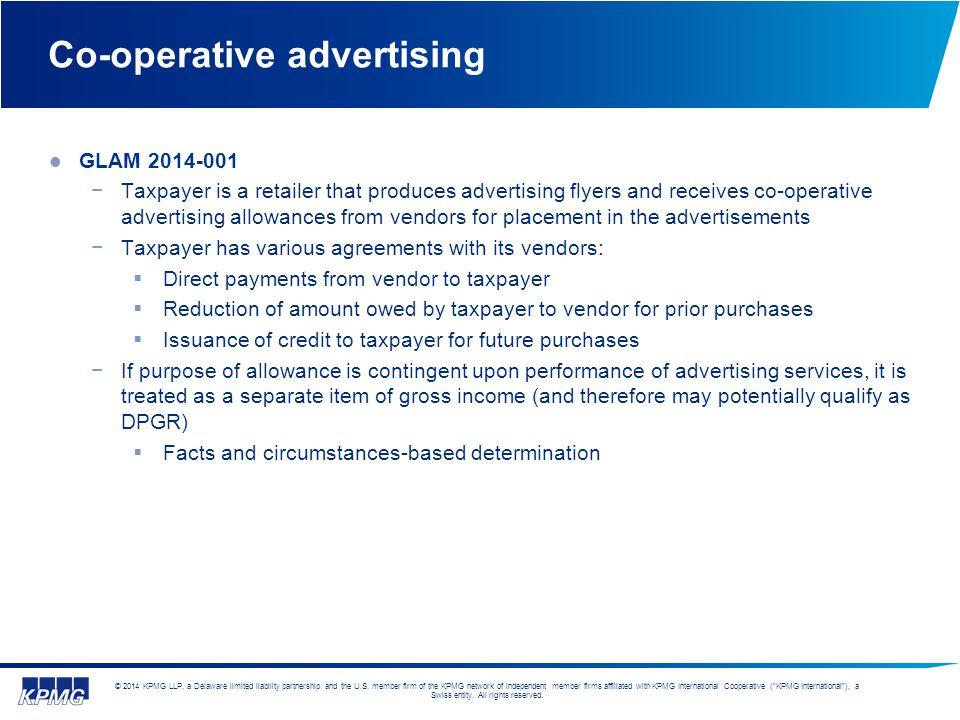Co-operative advertising