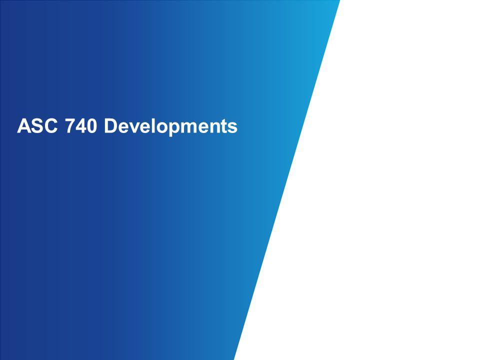 ASC 740 Developments