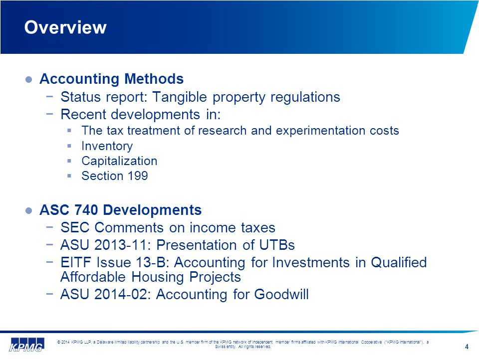 Overview Accounting Methods